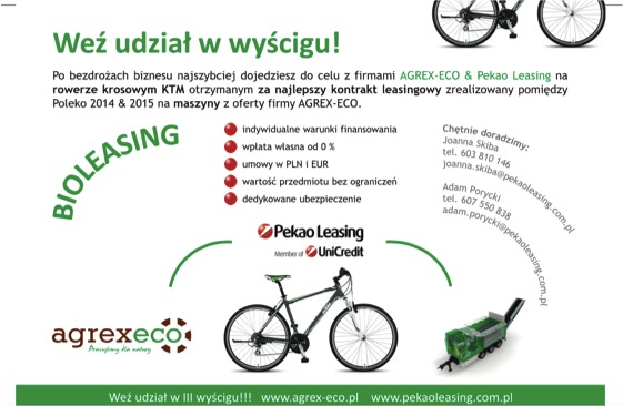 konkurs rower ktm agrex-eco bioleasing pekao leasing