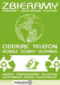 plakat teledar zbiórka telefonów csr agrex-eco