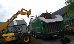 Axtor praca komptech agrex-eco biomasa innowacja abramczyk referencje rozdrabniacz