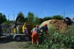 rębak rozdrabniacz ts industrie agrex-eco ws w pracy