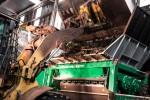 crambo stacjonarne komptech w pracy rozdrabniacz do biomasy agrex-eco