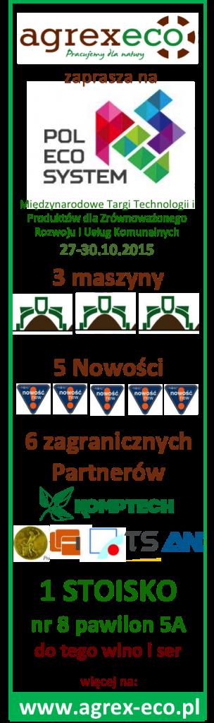 zaproszenie agrex-eco pol-eco-system 2015 targi