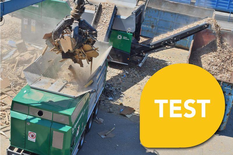 test rozdrabniacze komptech agrex-eco