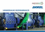 ulotka andritz uniwersalne rozdrabniacze agrex-eco